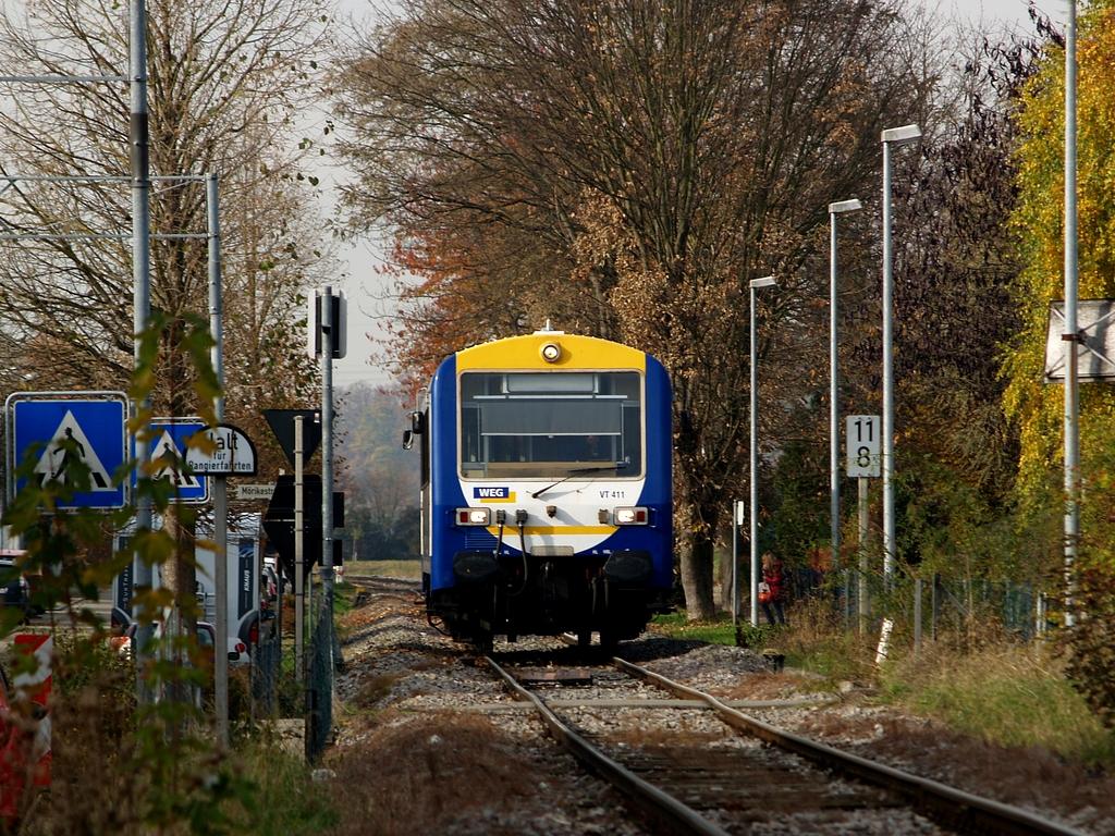 VT 411 in Hemmingen, 9. November 2012 Foto: Jiří 7256 – 1024×768